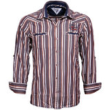Integriti Brown White Stiped Shirt (HHP00186)
