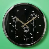 Swarovski Crystal Diamonds Wall Clock 35cm By Terro Arts TD-2233