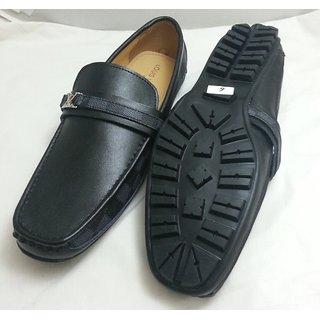 Louis Vuitton Loafer Black Damier Mens Shoes, Size UK-11