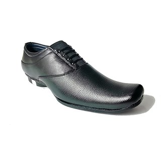 Blue Park Leather Formal Shoes Black 08 By STYLE-ONN