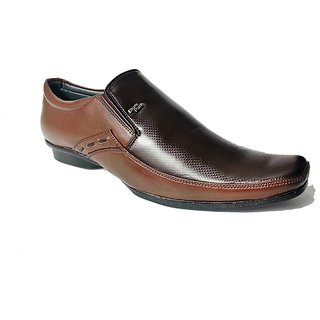 Shiney Leather Formal Shoes Dual Brown 10 By STYLE-ONN