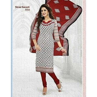 Shree Ganesh Premium Cotton Printed Designer  Suit Salwar Kameez Dress Material