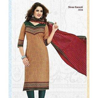 Shree Ganesh Cotton Printed Designer Premium Suit Salwar Kameez Dress Material