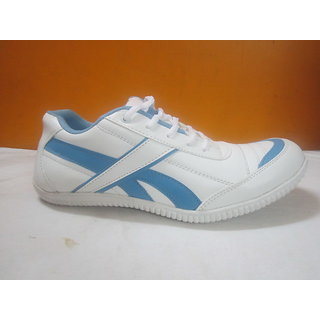 sport shoes for men in white blue