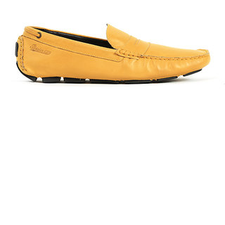 Basics Casual Moccasins Yellow Leather Regular Shoes