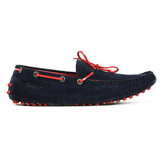 Basics Casual Loafers Navy Leather Regular Shoes