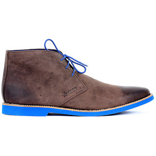 Basics Casual Chukka Boots Brown Leather Regular Shoes