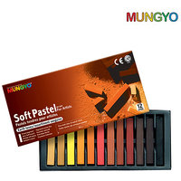 Mungyo Soft Pastel For Artists - 12  Earth Tone Colors
