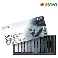 Mungyo Soft Pastel For Artists - 12  Grey Tone Colors