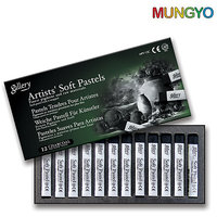 Mungyo Gallery Artists' Soft  Pastels - 12 Colors Charcoal