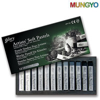 Mungyo Gallery Artists' Soft  Pastels - 12 Colors Grey Tone
