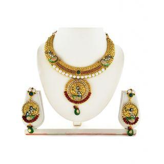 Asian Pearls & Jewels Beautiful Kundan Necklace Set