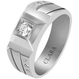 Clara Sterling Silver Swarovski The Alfonso Men Ring