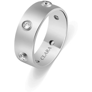Clara Sterling Silver Swarovski The Bermudo Men Ring