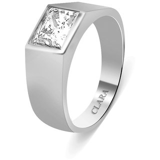 Clara Sterling Silver Swarovski The Bolivar Men Ring