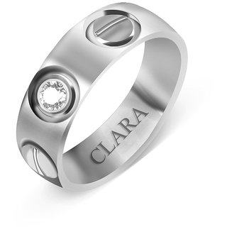 Clara Sterling Silver Swarovski The Cruz Men Ring