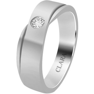 Clara Sterling Silver Swarovski The Fermin Men Ring