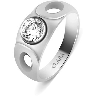 Clara Sterling Silver Swarovski The Fidel Men Ring