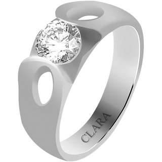 Clara Sterling Silver Swarovski The Gerard Men Ring