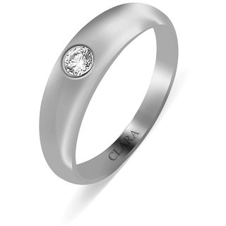 Clara Sterling Silver Swarovski The Classic Unisex Ring