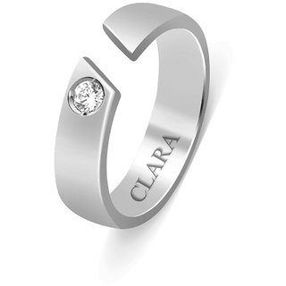 Clara Sterling Silver Swarovski The Maxim Unisex Ring