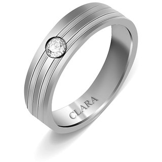 Clara Sterling Silver Swarovski The Oscar Men Ring