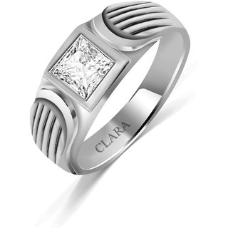 Clara Sterling Silver Swarovski The Zebra Men Ring