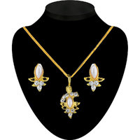 The Pari Gold Plated Austrian Diamond Gold Pendants Chains For Women