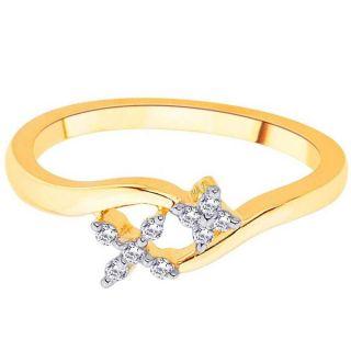 Sangini Real Diamond Gold Ring By Gitanjali (Design 33)