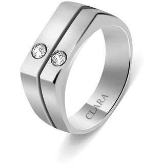 Clara Sterling Silver Swarovski The Alano Men Ring