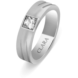 Clara Sterling Silver Swarovski The Alejo Men Ring