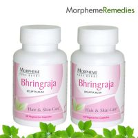 Morpheme Bhringraja Supplements For Healthy Hair & Skin Care - 500Mg Extract