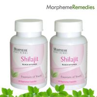 Morpheme Shilajit Supplements For Anti Aging - 500Mg Extract - 60 Veg Capsules