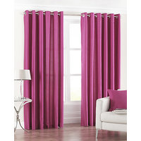 Deal Wala 1 Piece Of Dark Pink Eyelet Door Curtain - Vip274