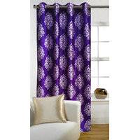 Deal Wala 1 Piece Of Mask Design Purple Eyelet Door Curtain - Vip281