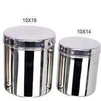 Grish Stainless Steel Deep Dabba (canister) Set Of 4