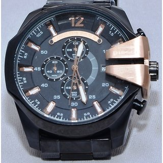 Diesel MEGA CHIEF Black - Steel Strap