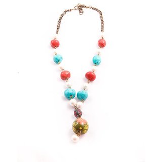 Funky Multi Color Necklace By Harp