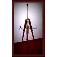 FULL EXTENDABLE ANTIQUE FLOOR TRIPOD LAMP STAND MAKE HOME BEAUTIFUL TIMBER WOOD,