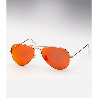 Singham Returns Sunglasses Collection Golden Frame/Orange Sunset Mirror