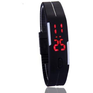 Frenzy Men Women LED Digital fashion Watch Sports Bracelet Watch Black by miss AAa