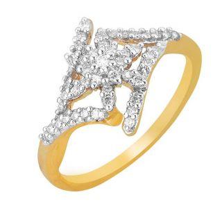Asmi 18K Yellow Diamond Gold Ring ADR00242 VVS-GH
