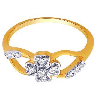 Asmi 18K Yellow Diamond Gold Ring ADR00554 VVS-GH