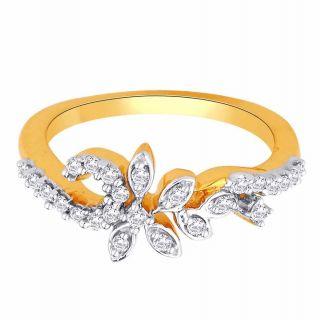 Asmi 18K Yellow Diamond Gold Ring ADR00568 VVS-GH