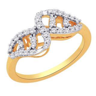 Asmi 18K Yellow Diamond Gold Ring ADR00574 SI-GH