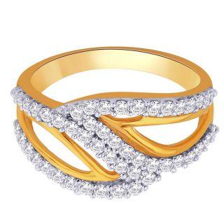 Asmi 18K Yellow Diamond Gold Ring ADR00654 VVS-GH