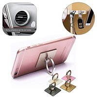 Universal -360 Rotate Metal Finger Ring Smartphones - Mobile Phone Holder - Assorted Colours(Gold,Silver,Black,Pink)