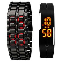 New Didital Combo Of 2 LED Watch For Men by kl