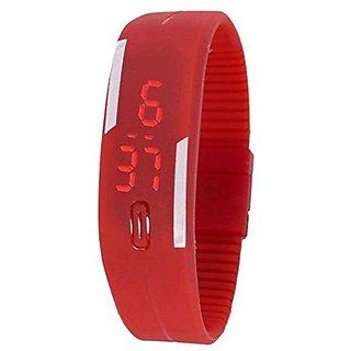 Danzen Digital Red LED Sports Unisex Watch-498 by 6