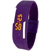 LED  Digital Watch - For Boys, Girls (Purple) b